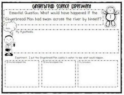 Gingerbread Man Story Elements Worksheet   School Planning
