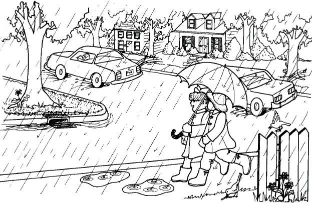 Grade 3 Writing Prompt  Describing Rain Scene