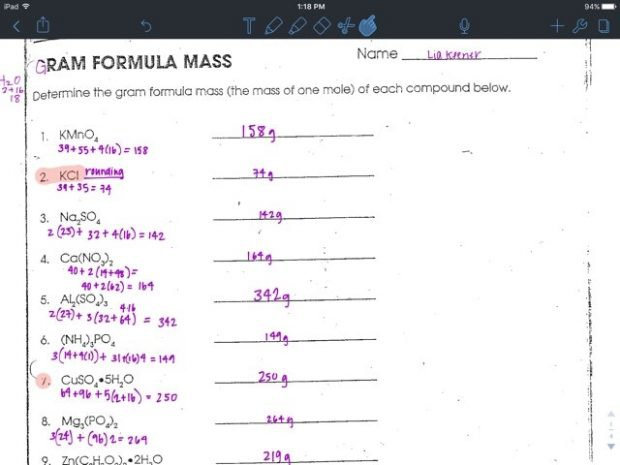 Gram Formula Mass Worksheet Blogger 988074442 Representation