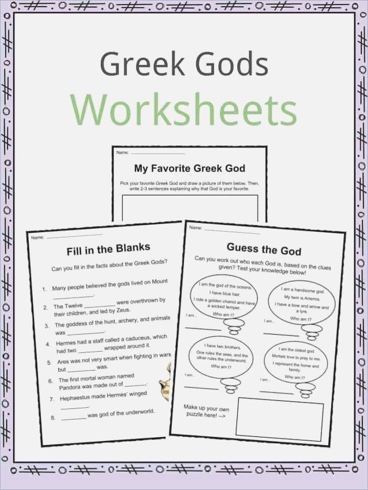 Greek Mythology Worksheets For High School – Webmart Me