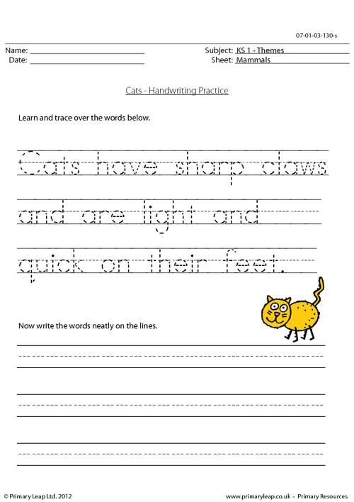 Handwriting Practice Worksheets And Primary