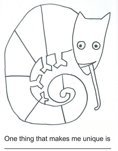 Here's A Worksheet For The Mixed Up Chameleon