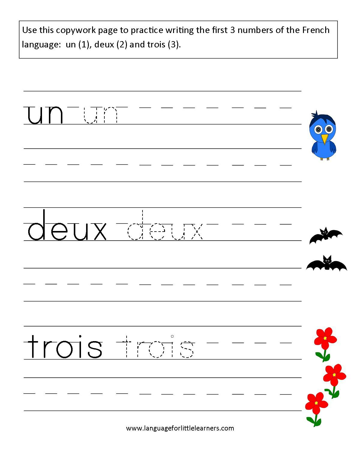 Homeschool Worksheets For Kindergarten Math Learn French Language