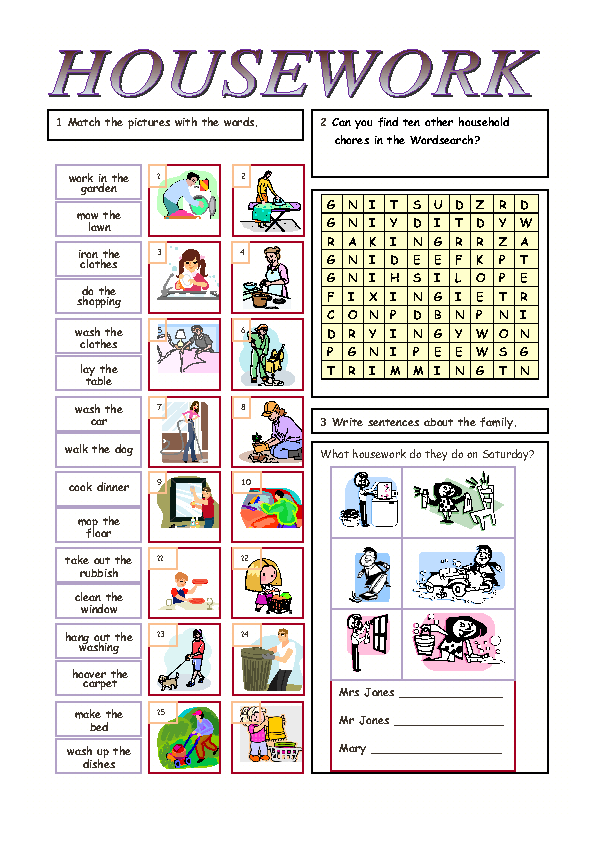 House Chores Worksheets The Best Worksheets Image Collection