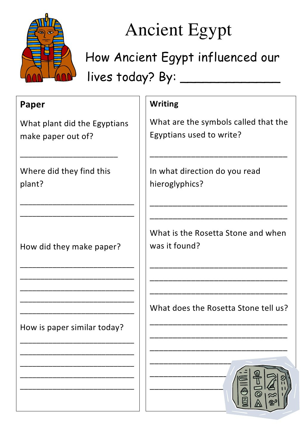 Ideas Collection Ancient Egypt Worksheets For Middle School In Job
