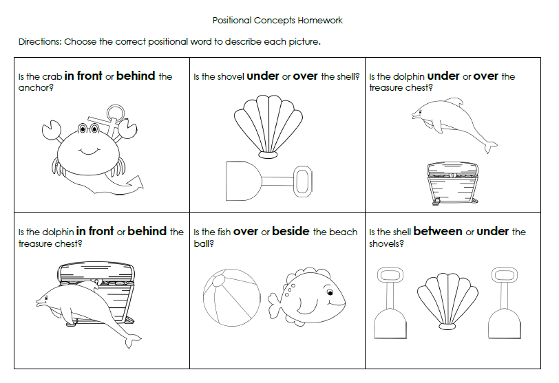 Ideas Collection In On Under Over Worksheets In Example