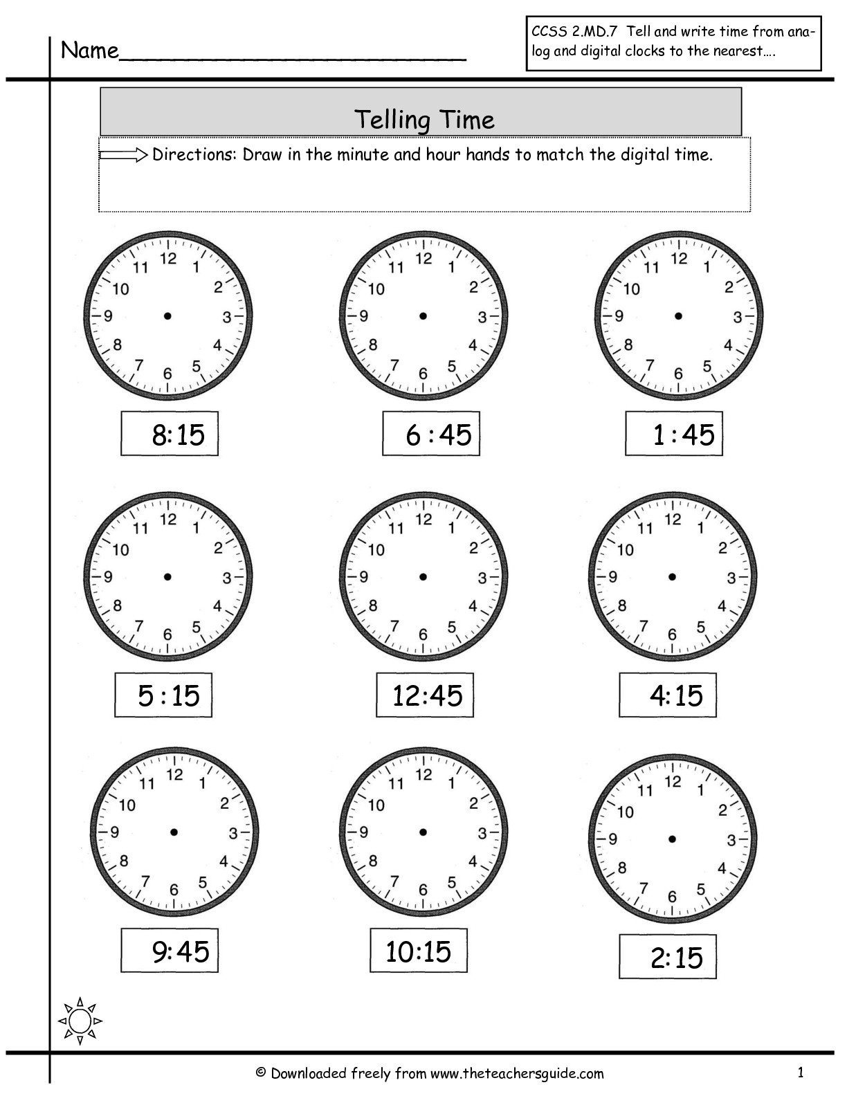 Ideas Of Quarter To And Quarter Past Time Worksheets With