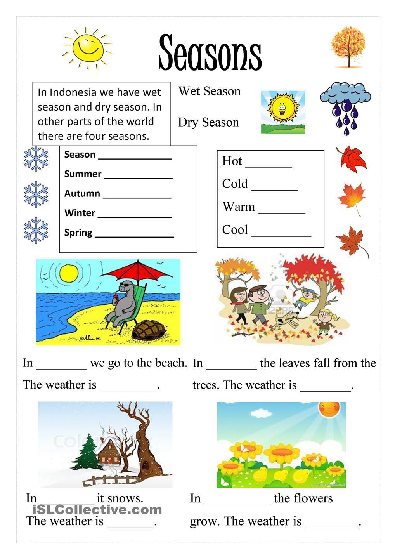Ideas Of Season Worksheets In Format Sample