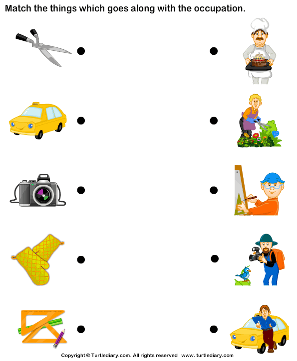 Identify The The Correct Occupation Worksheet