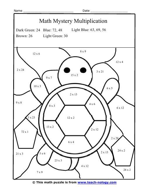 Image Result For Math Coloring Worksheets