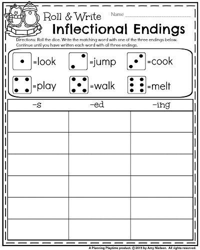 Inflected Endings Worksheets Worksheets For All