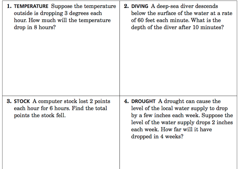 Integer Word Problems   More Challenging Practice Questions