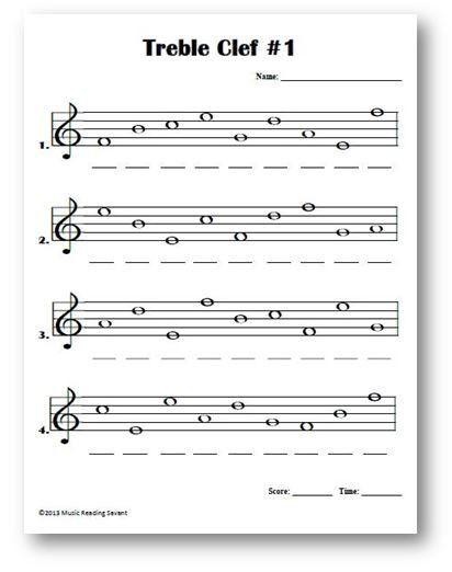 Intro To Treble Spaces Note Names Kids Worksheet