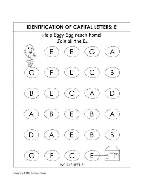 Kindergarten Alphabet Worksheets
