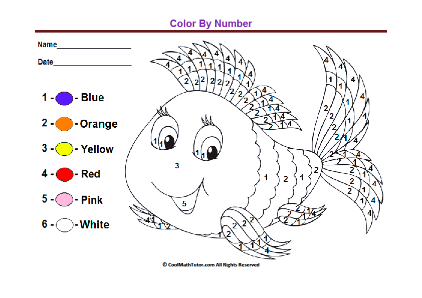 Kindergarten Color By Numbers Worksheets The Best Worksheets Image