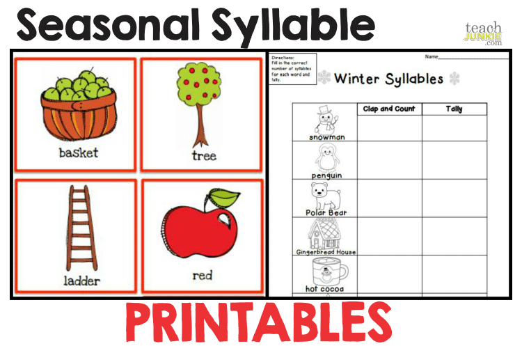 Kindergarten Syllable Worksheets Worksheets For All