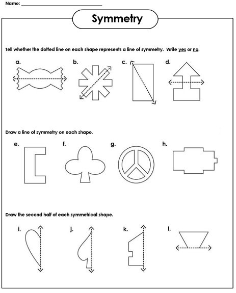Kindergarten Symmetry Worksheets Worksheets