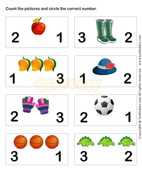 Learn Numbers Worksheet3