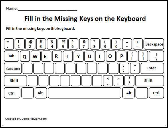 Learning The Computer Keyboard Layout