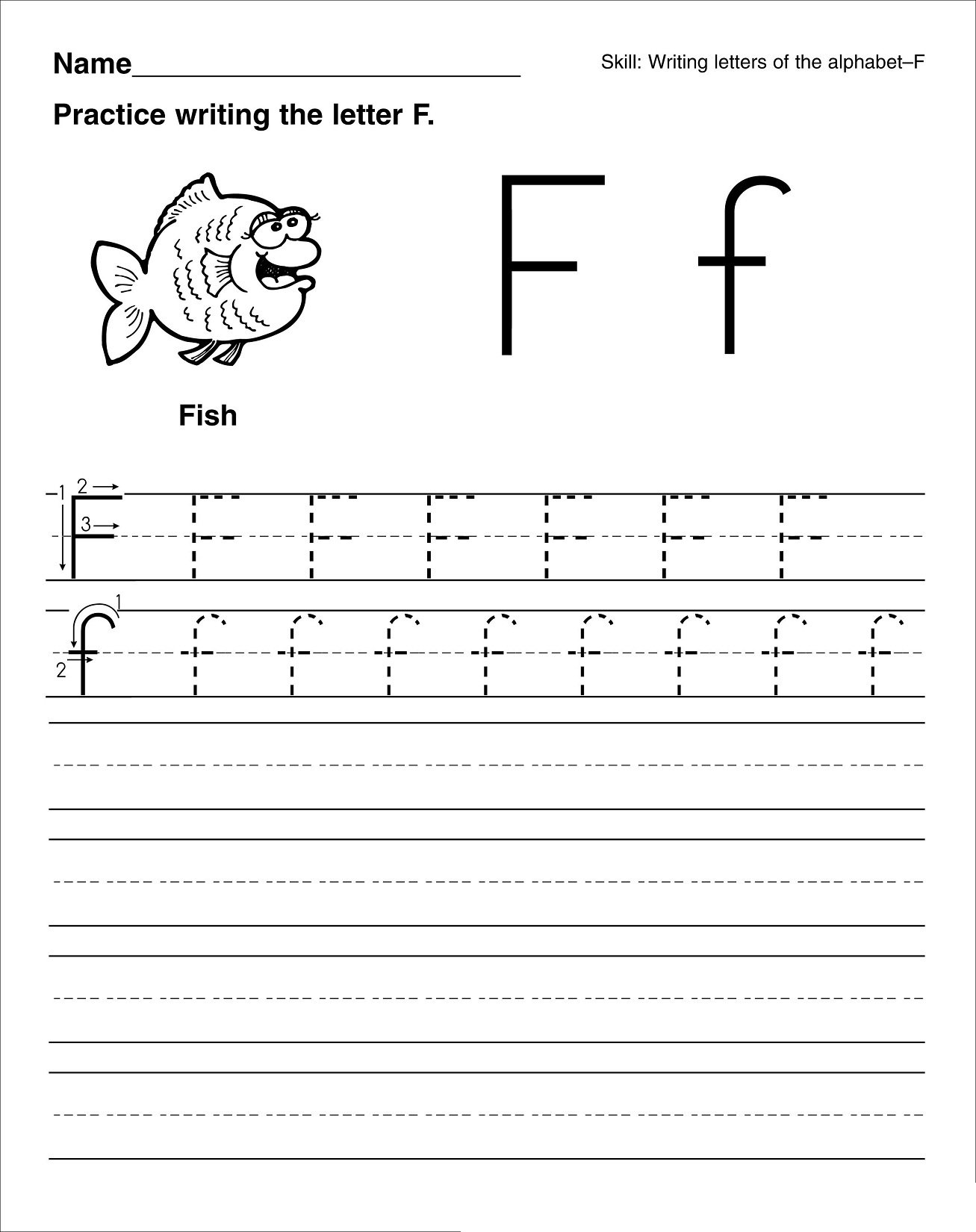 Letter F Worksheet To Print Loving Printable Tracing Worksheets I