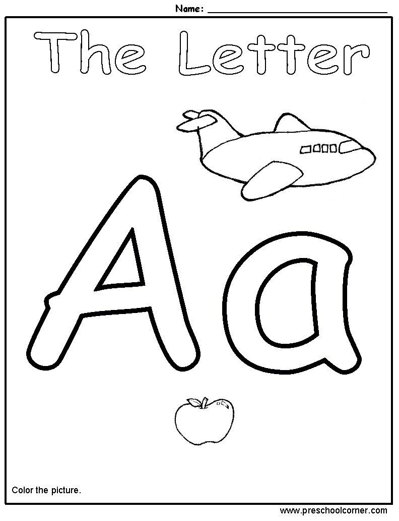 Letter Printouts For Preschoolers Letter Find Worksheets For