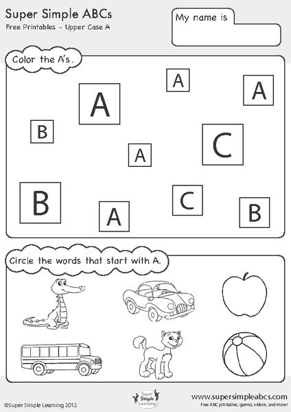 Letters Abc Worksheets Worksheets For All