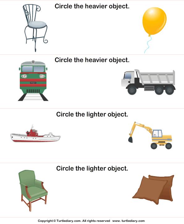 Light And Heavy Worksheet 4