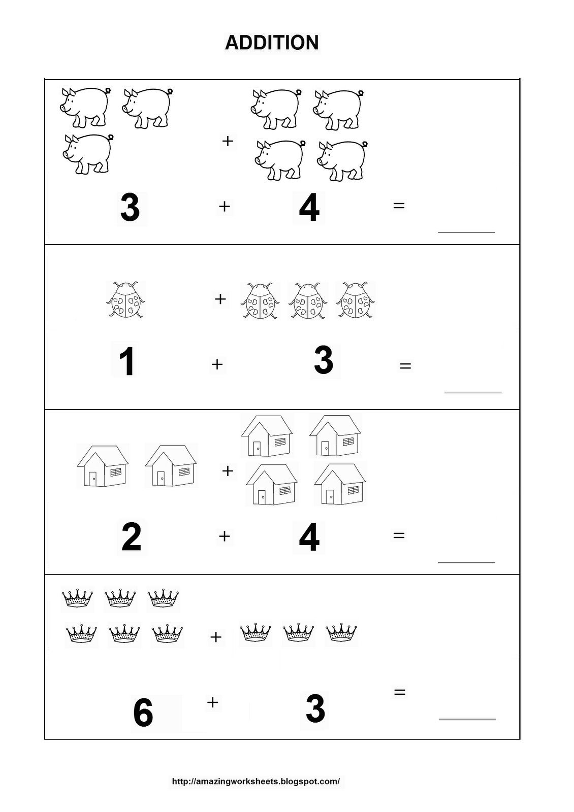 Lovely Addition Math Worksheets For Pages Kids House Decor Ideas