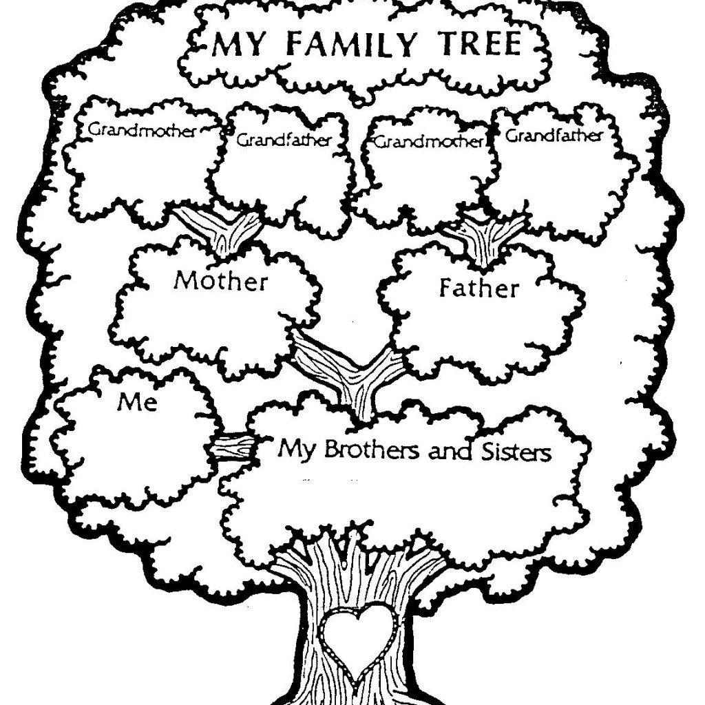 Family Tree Worksheets For Kids