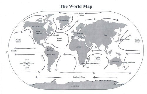 Ocean Currents Map Worksheets. Ocean Currents Worksheet Middle School Worksheets For All Map World Quiz Test And 7 Continents 5 The. Worksheet. Ocean Current Worksheet At Clickcart.co