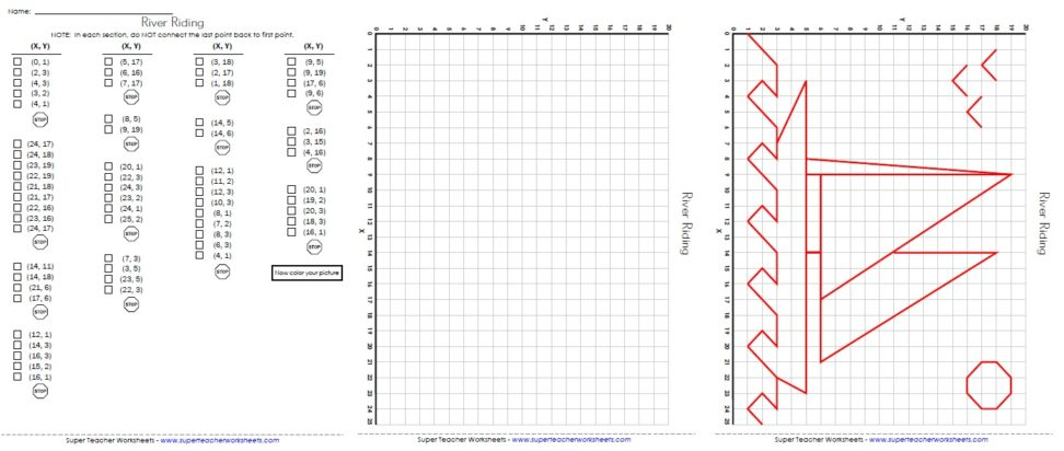 Mario Coordinate Graphing Worksheets For All