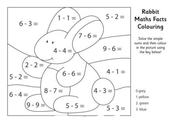 Math Coloring Page