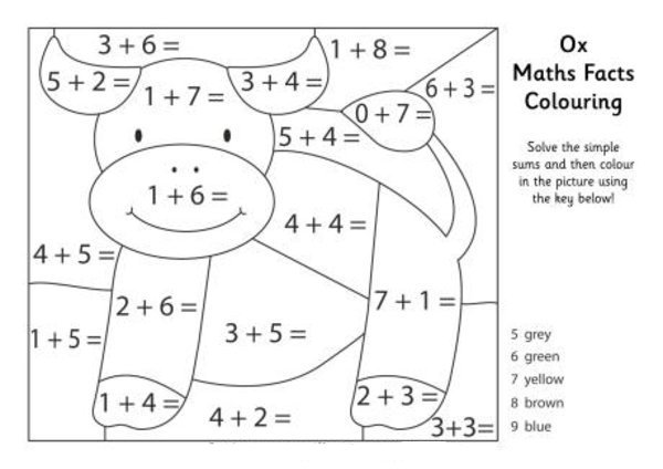Math Facts Coloring Page Download