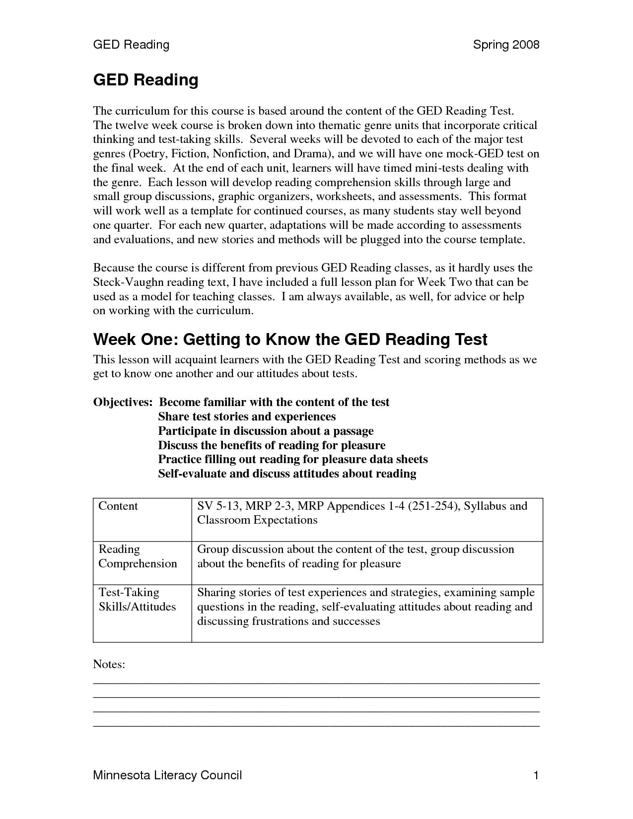 Math Ged Practice Worksheets – Desiaustralia Co