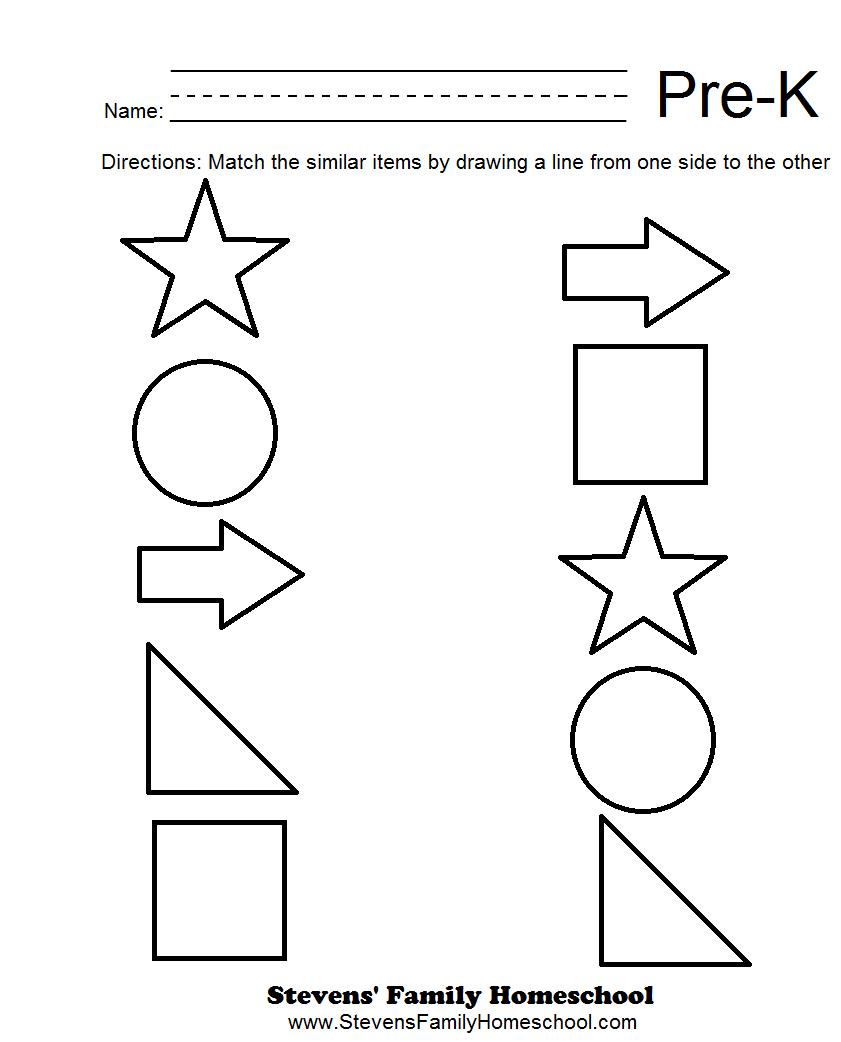 Math Pre K Worksheets