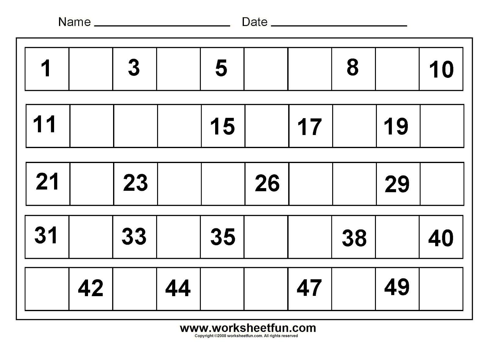 Math Worksheets For Kindergarten Printable The Best Worksheets