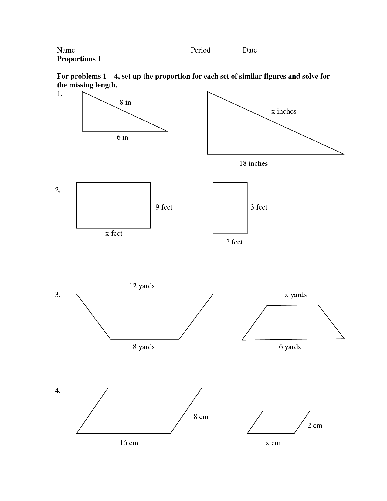 Math Worksheets On Scale Factors  Math  Best Free Printable Worksheets