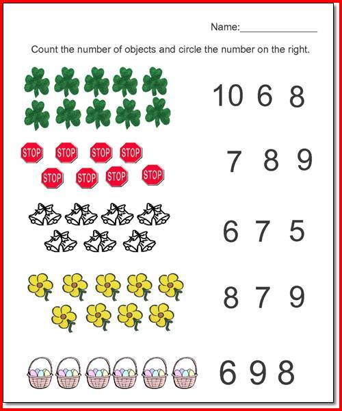 Math Worksheets Pre K Worksheets For All