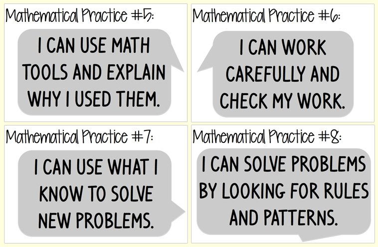 Mathematical Practices Worksheets For All