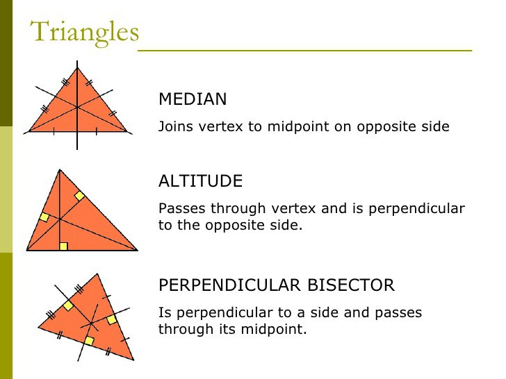 Medians Of A Triangle Worksheet