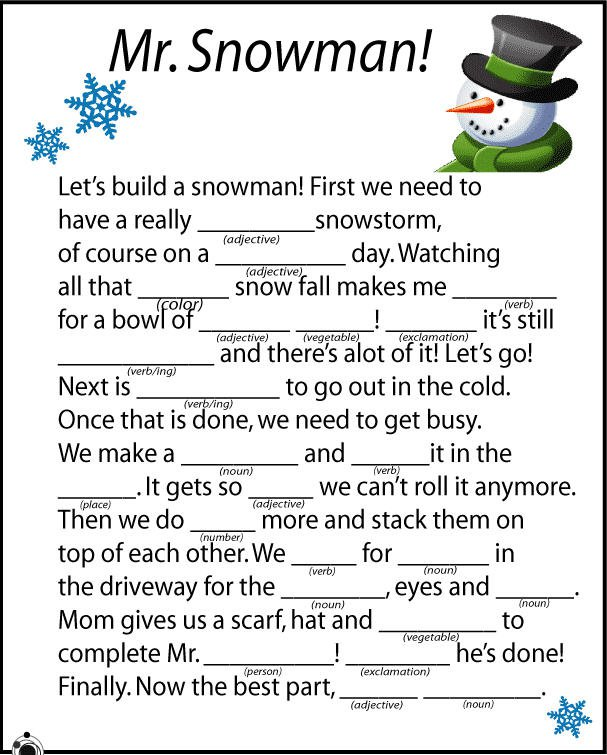 Middle School Sheets For Christmas – Fun For Christmas