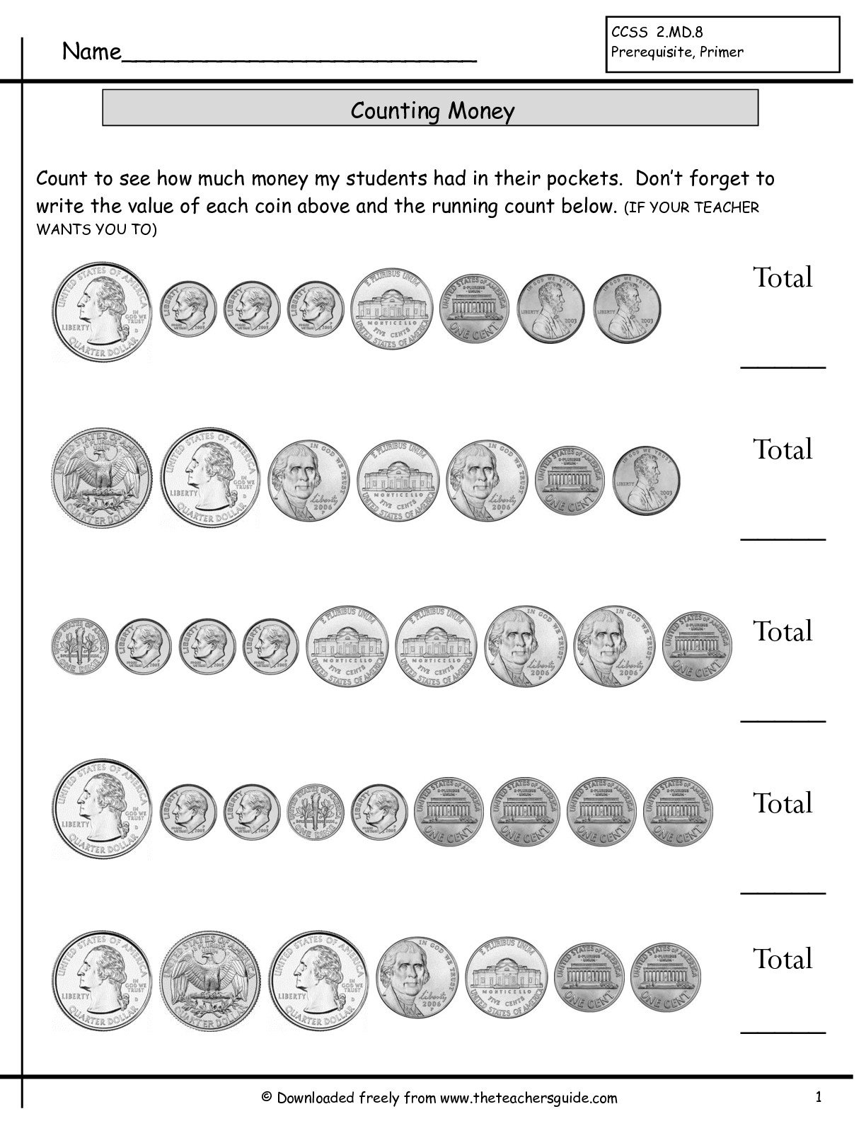 Money Coins Worksheets The Best Worksheets Image Collection