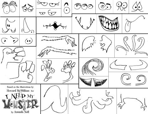 Monster Parts Worksheets