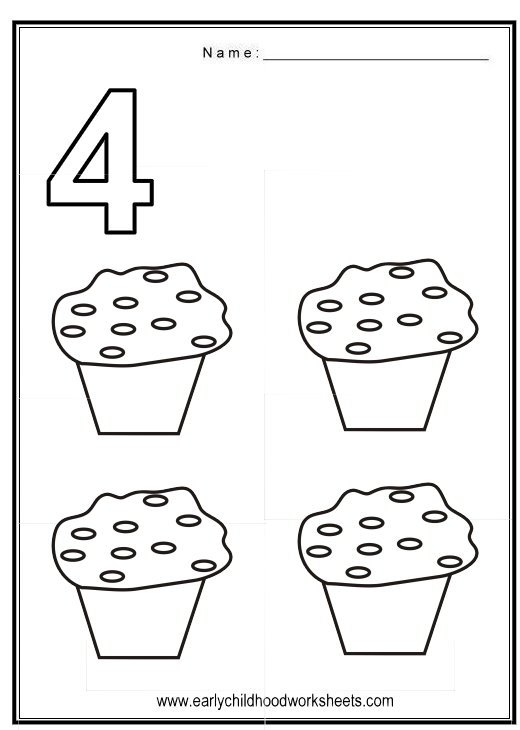 Number 4 Worksheets Free Worksheets For All