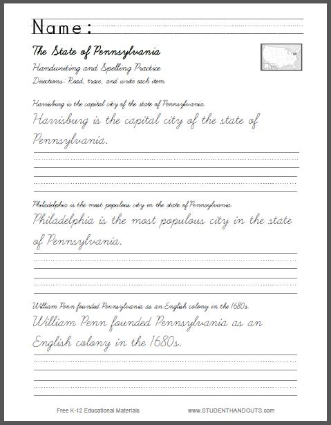 Number Names Worksheets » Handwriting Practice Sheets Pdf