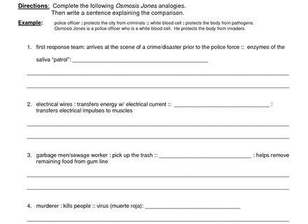 Osmosis Jones Worksheet Answers Osmosis Jones Worksheet Osmosis