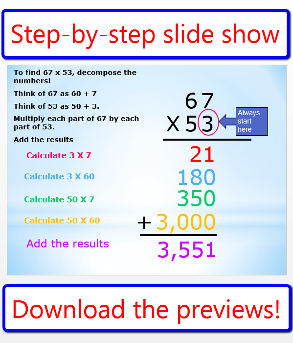 Partial Product Multiplication Lesson