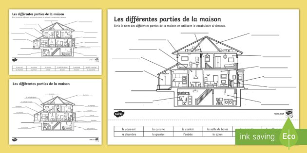 Parts Of A House Worksheet   Activity Sheet French