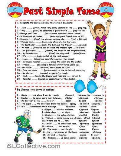 Past Simple Tense    Fully Editable     With Key Worksheet