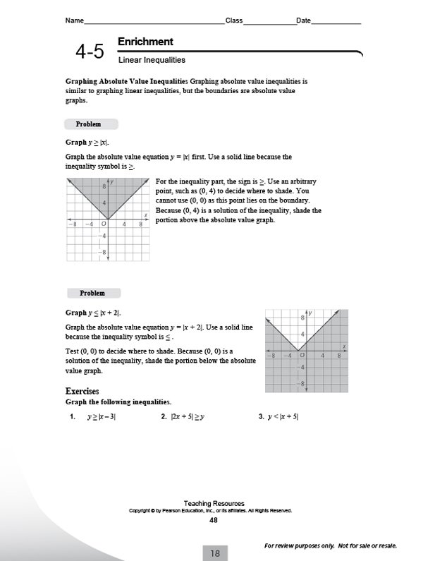 Pearson Math Worksheets 5th Grade Worksheets For All